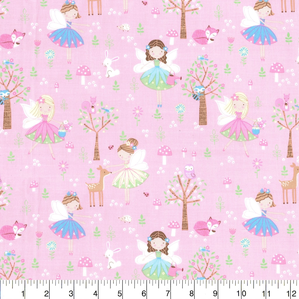 Find the Fabric Traditions Fairies on Pink Cotton Home Décor Fabric at  Michaels.com