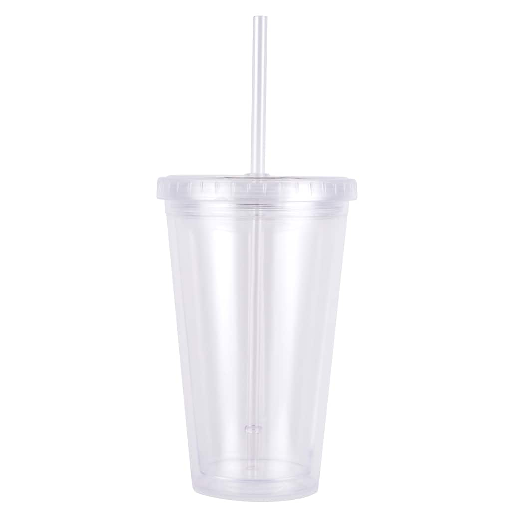 18oz Plastic Tumbler With Straw By Artminds Michaels