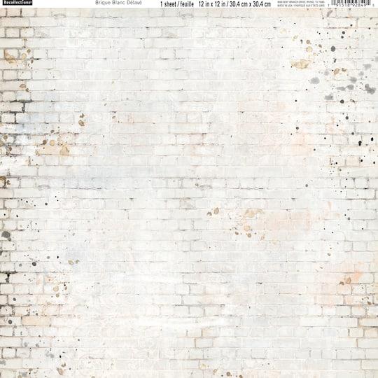 White Distressed Brick Sbook Paper, Michaels Furniture Brick