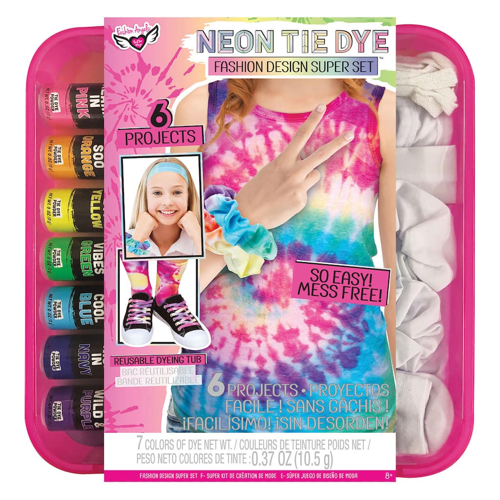 Fashion Angels Neon Tie Dye Fashion Design Super Set Michaels