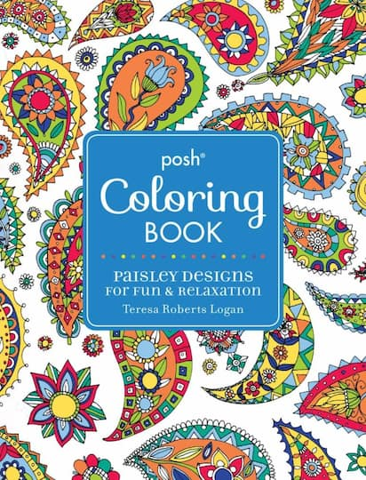 Find the Posh® Adult Coloring Book: Paisley Designs for Fun ...