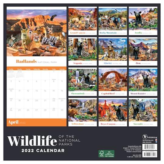National Parks Calendar 2022.2022 Wildlife Of The National Parks Wall Calendar Michaels