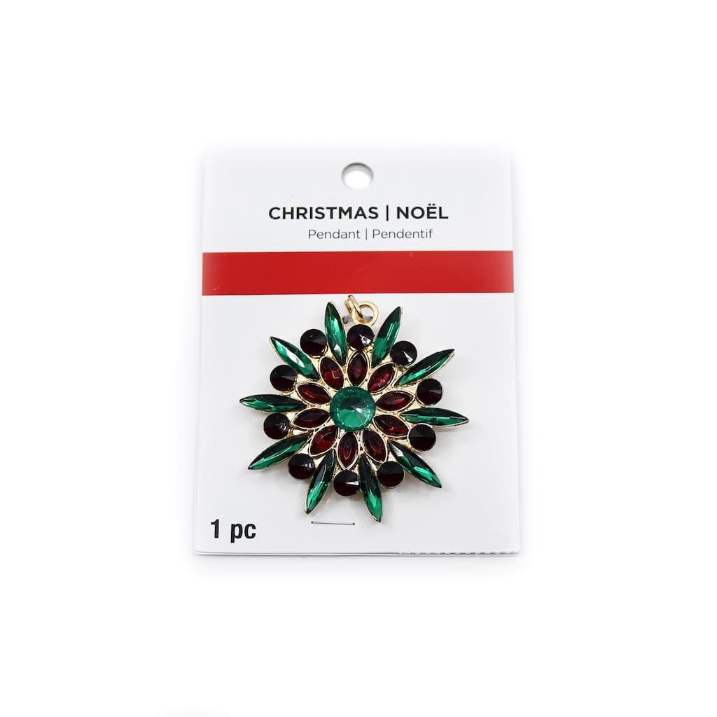 Christmas Multicolour Starburst Pin Pendant