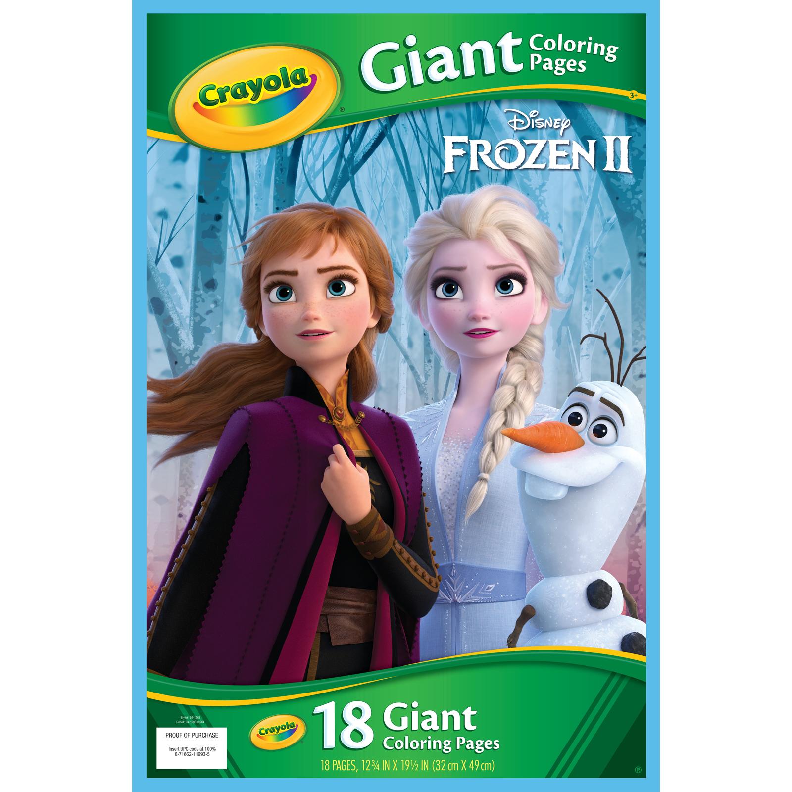 - Crayola® Disney Frozen 2 Giant Coloring Book Michaels