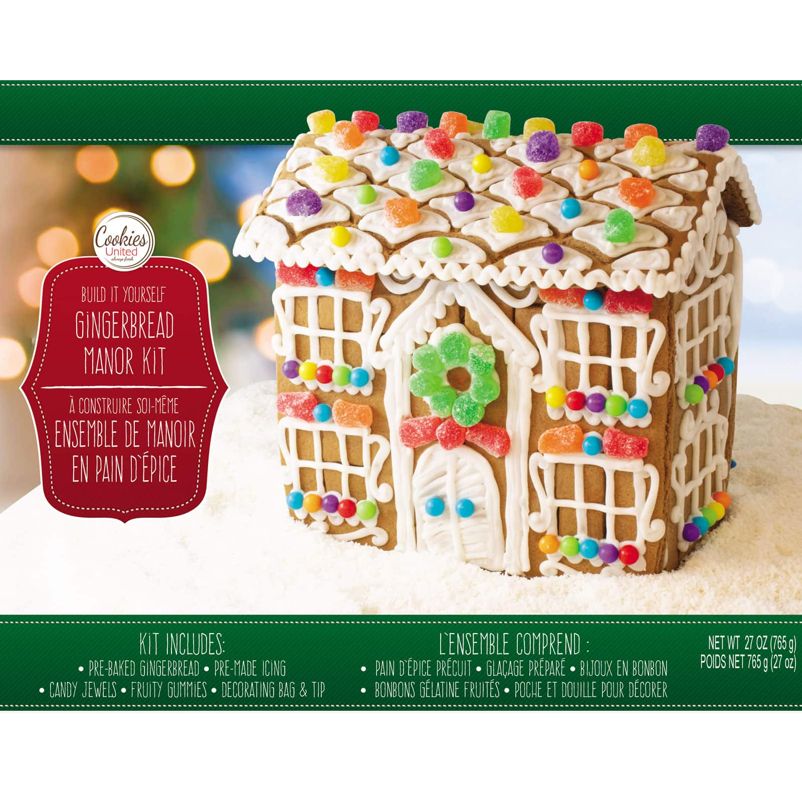 Cookies United Build \u0026 Decorate Gingerbread Manor House Kit