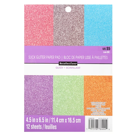Pastel Slick Glitter Paper Pad By Recollections™