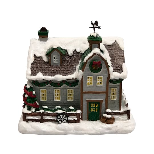 Tiny Treasures Mini Light-Up Red Cottage House By Ashland� | Michaels�