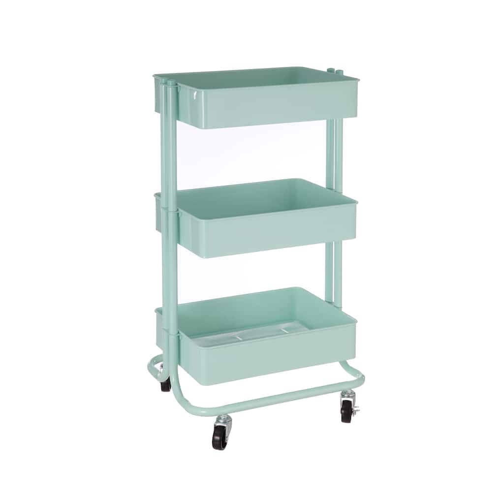 Mint Lexington 3-Tier Rolling Cart By Recollections™