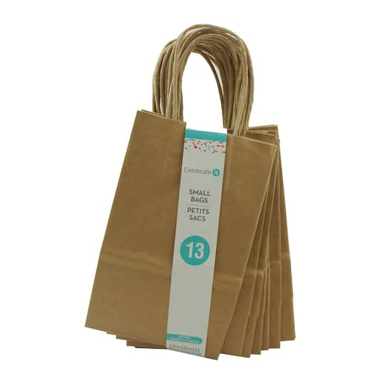 Kraft Small Gift Bags By Celebrate It