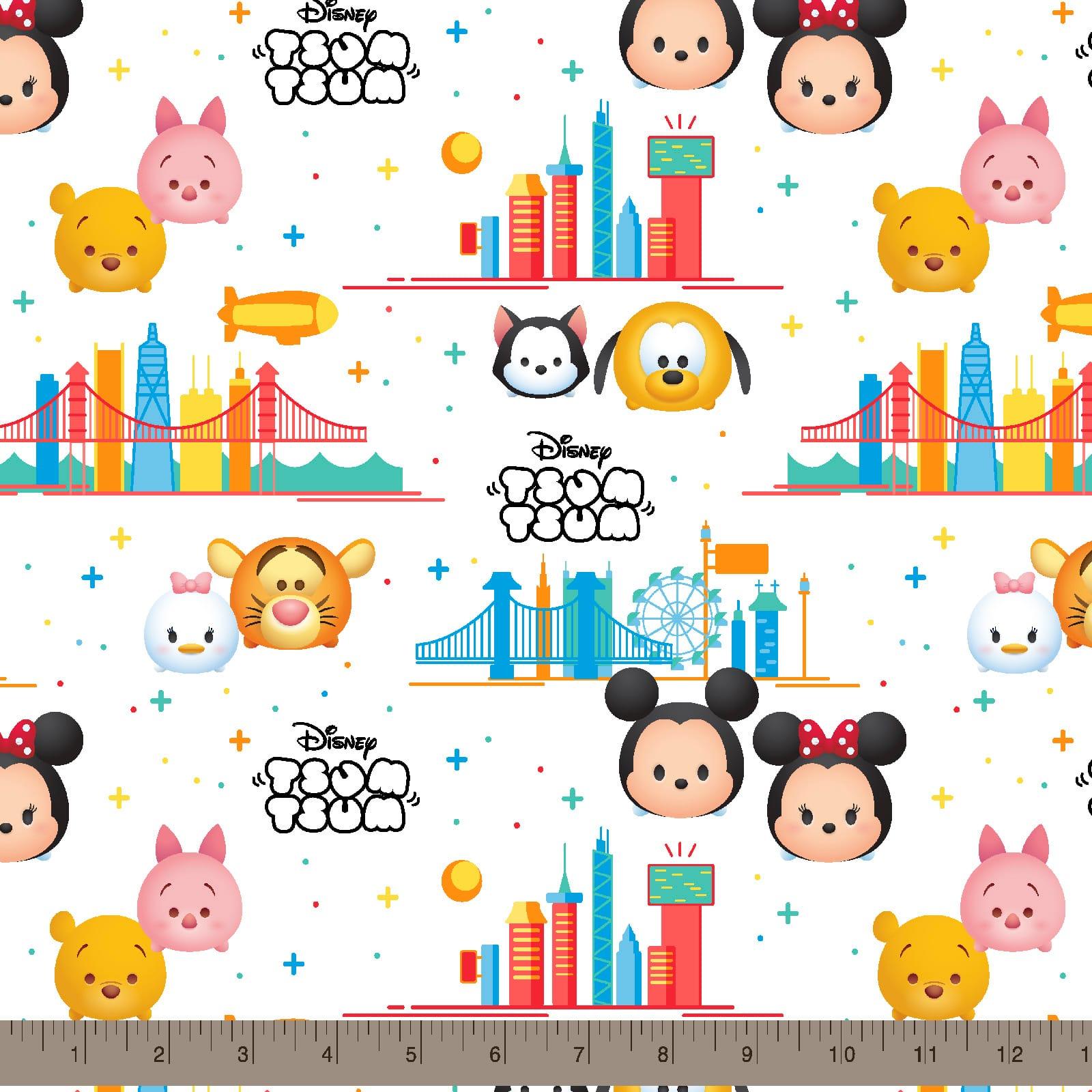 1 yard Disney Tsum Tsum Travel Fabric