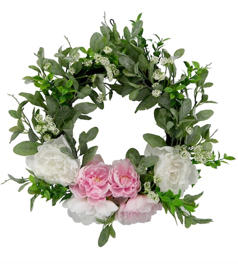 "Shop For The 22"" White & Peony Wreath By Ashland® At Michaels"