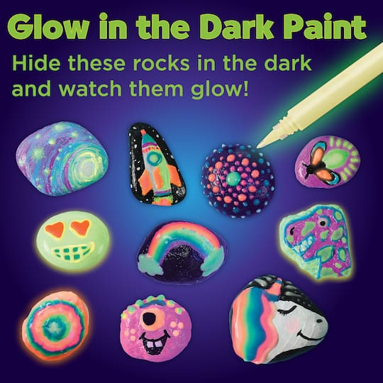 Faber Castell Glow In The Dark Rock Painting Kit Michaels