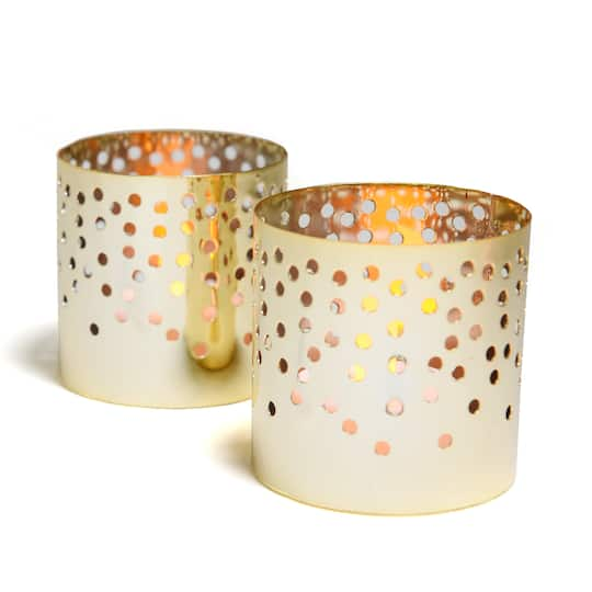 Find the Style Me Pretty Gold Votive Candle Holders at ...