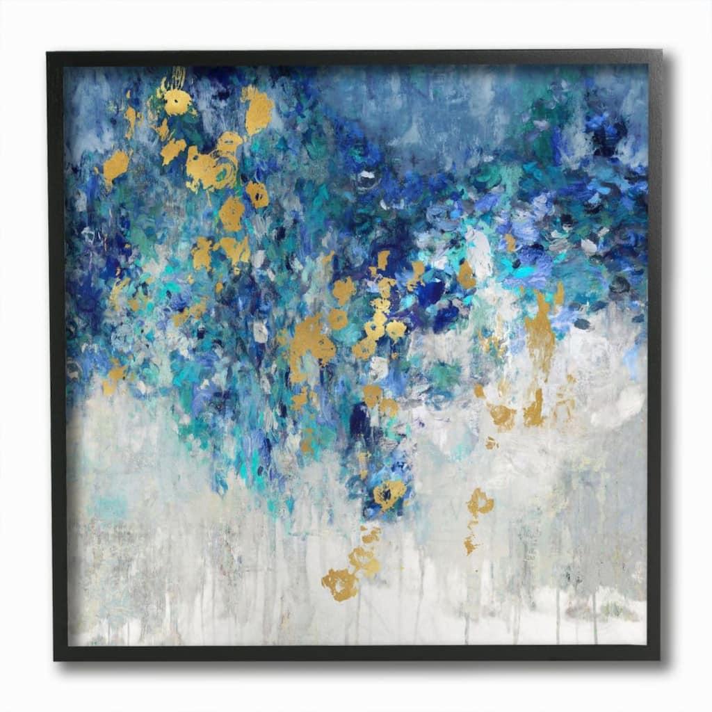Stupell Industries Blue Gold Abstract Framed Wall Art Set Michaels
