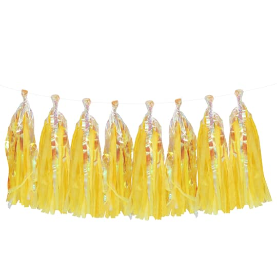 Buy The Yellow Tissue Tassel Garland By Celebrate It At