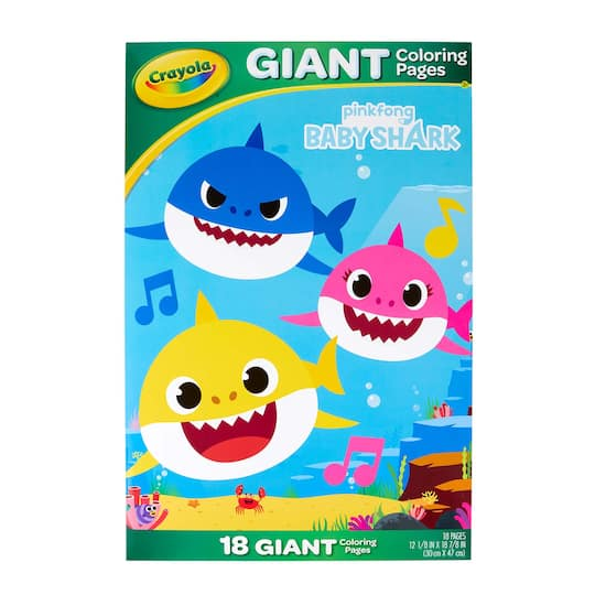 Crayola Baby Shark Giant Coloring Pages | Michaels