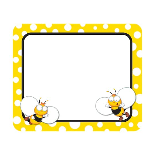 Carson Dellosa® Buzz-Worthy Bees Name Tags, 6 Packs of 40