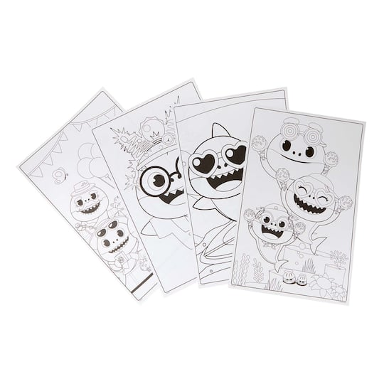 12 Packs: 18 ct. Crayola® Baby Shark Giant Coloring Pages ...