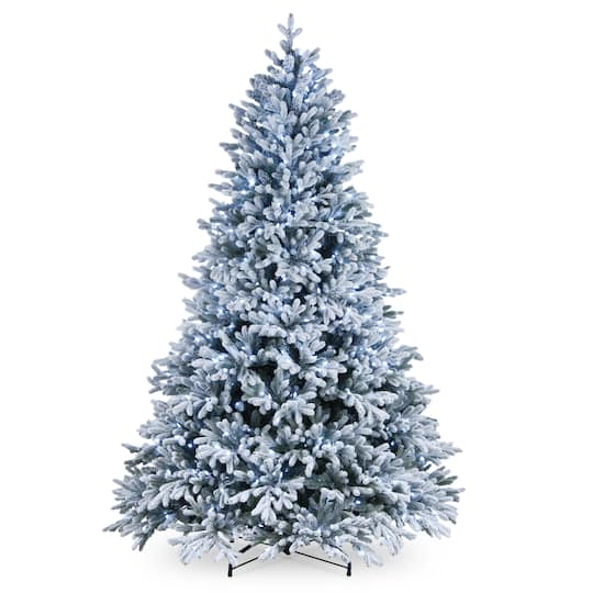 Cool Christmas Tree.7 5ft Pre Lit Hamilton Spruce Artificial Christmas Tree Cool White Led Lights