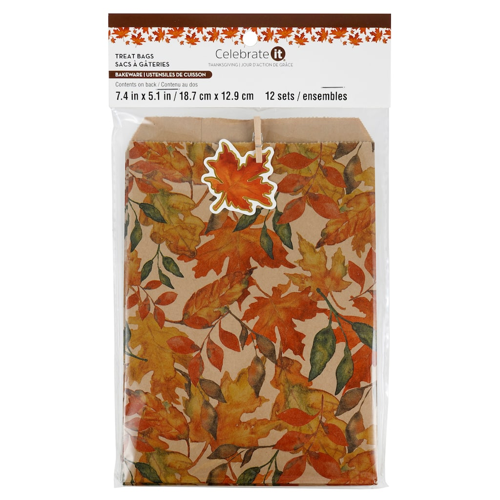 Fall Foliage Thanksgiving Treat Bags By Celebrate It 12ct Michaels