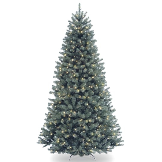 9ft Christmas Tree.9ft Pre Lit North Valley Blue Spruce Artificial Christmas Tree Clear Lights