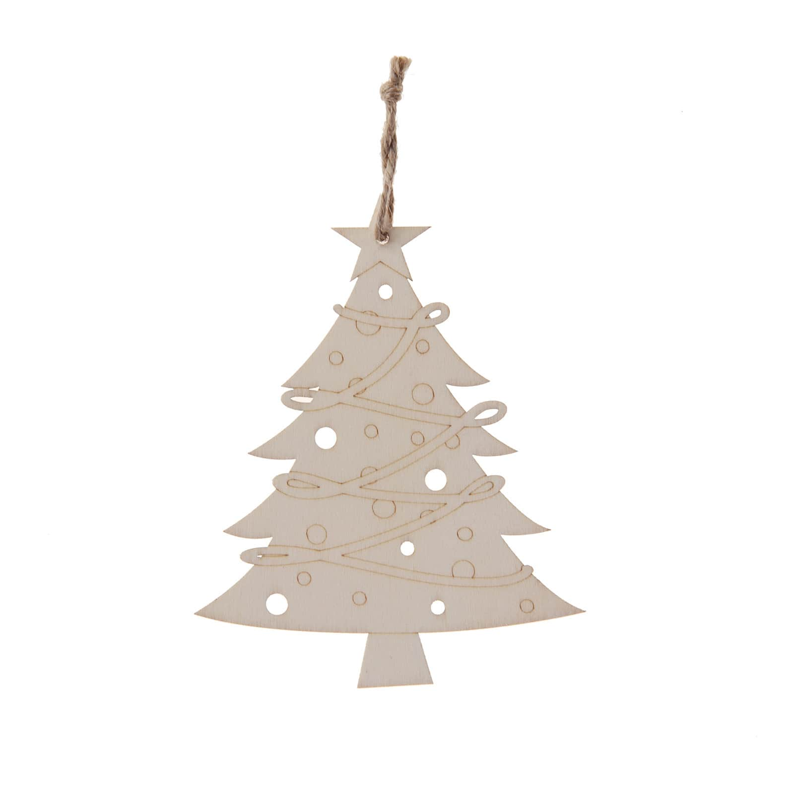 5 5 Wooden Laser Cut Christmas Tree Ornament By Artminds Michaels