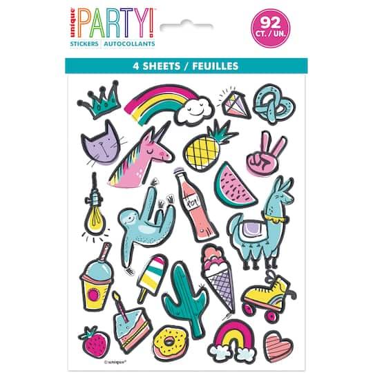 favorite birthday stickers favorite things party favors favorite things birthday sticker sheets 4ct