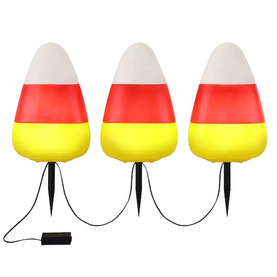 Candy Corn Lighted Pathway Stakes By Mr. Halloween | Michaels®