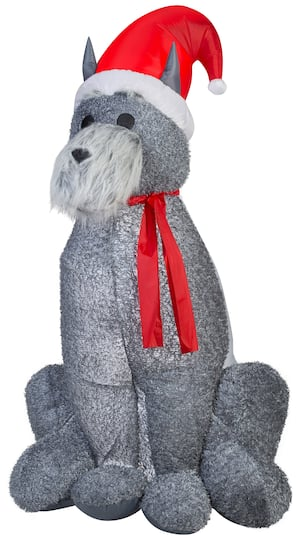 6ft  Airblown® Inflatable Christmas Schnauzer Dog