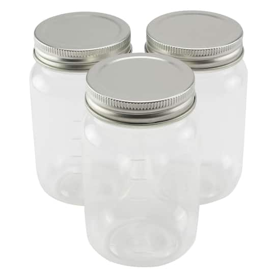 jar decoration ideas.htm shop for the 3 count 16 oz plastic mason jars by craft smart    at  count 16 oz plastic mason jars