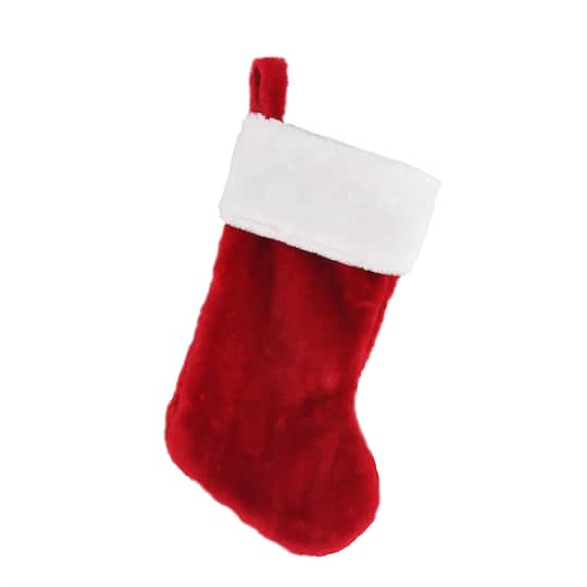 buy the red stocking with white fur by ashland at michaels - Michaels Christmas Stockings