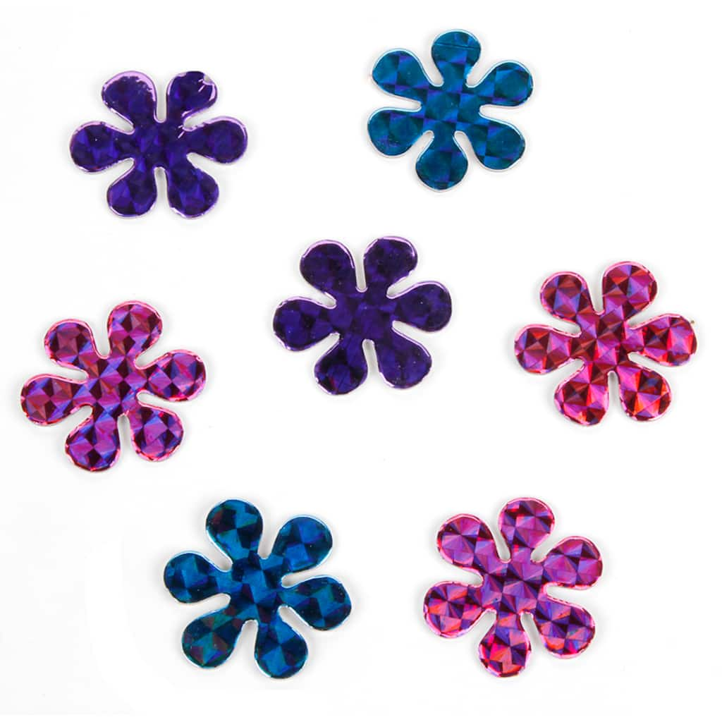 Darice holographic flowers chipboard stickers img