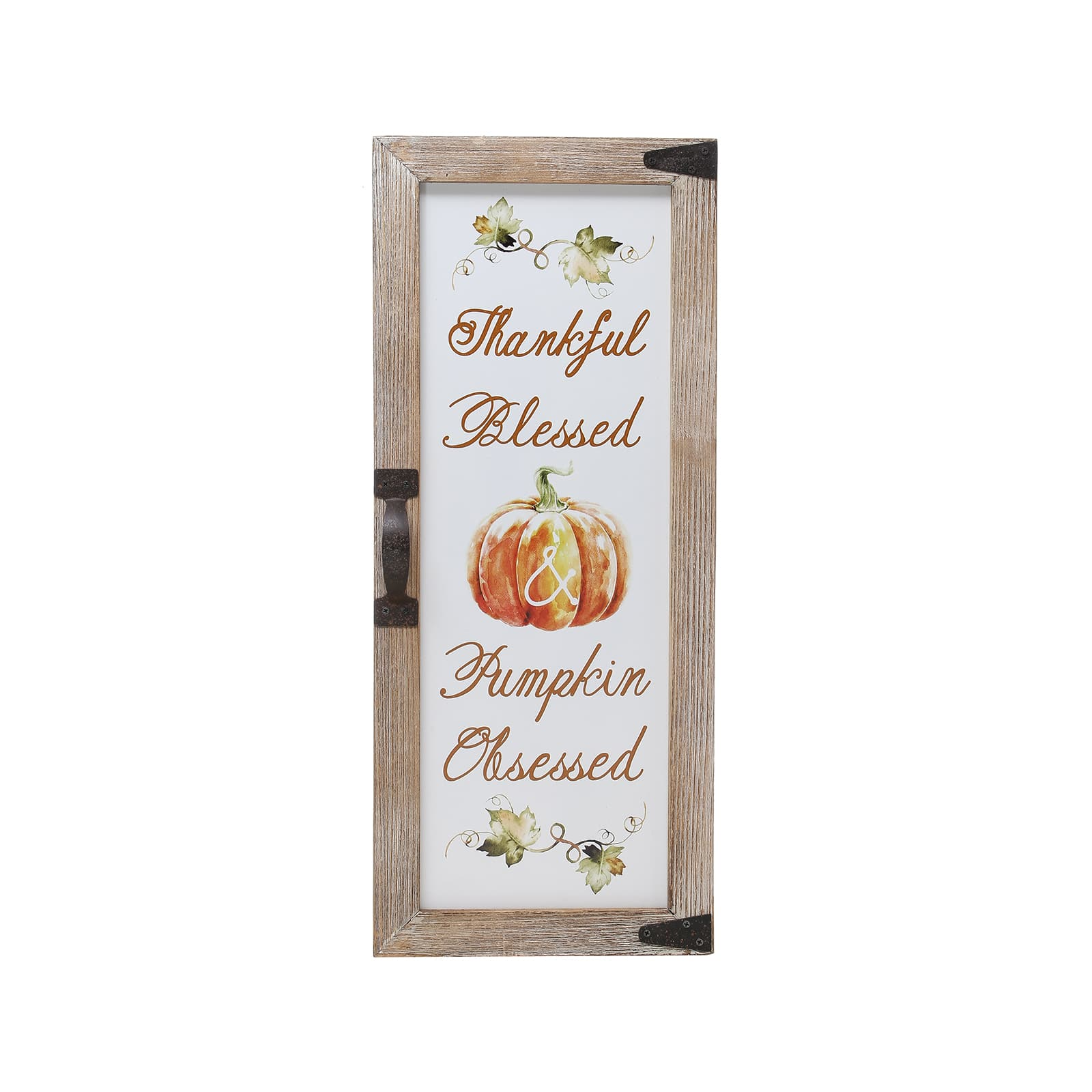 """21"""" Thankful, Blessed, Pumpkin Obsessed Wall Accent By Ashland® by Ashland"""