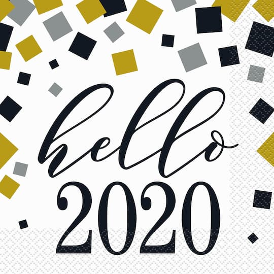 2020 New Year Paper Party Napkins | 2020 New Years Eve ...
