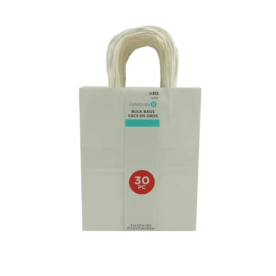 Medium White Paper Bags By Celebrate It
