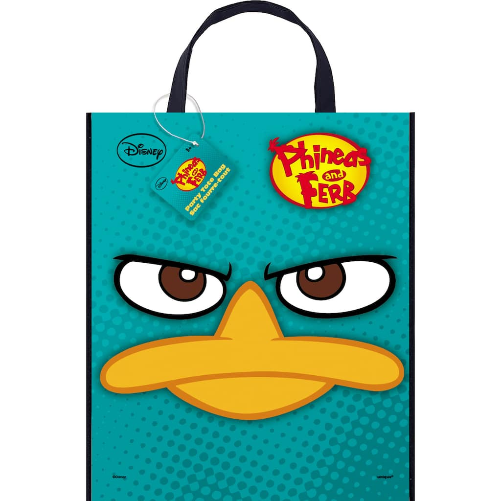 """Ferb Images large plastic phineas and ferb goodie bag, 13"""" x 11"""""""