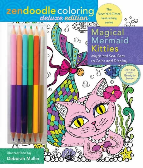 Shop for the Zendoodle Coloring: Magical Mermaid Kitties: Deluxe ...