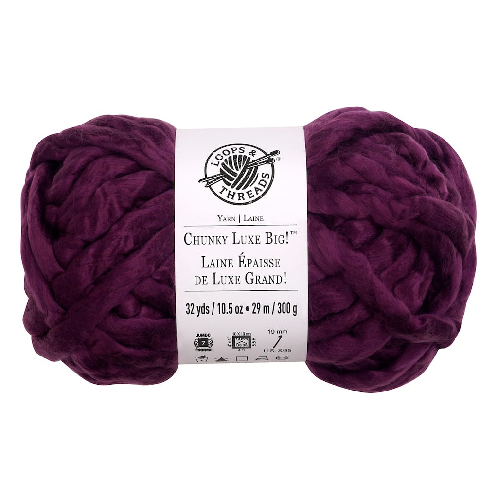 8 Pack Chunky Luxe Big Yarn By Loops Threads Michaels