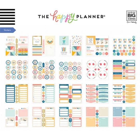 The Happy Planner® Retro Teacher Multi Accessory Pack