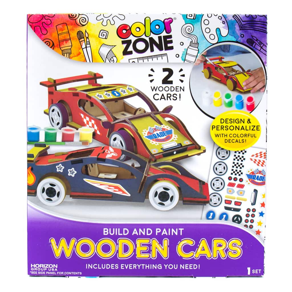 Color Zone Build Your Own Wooden Car Kit Michaels
