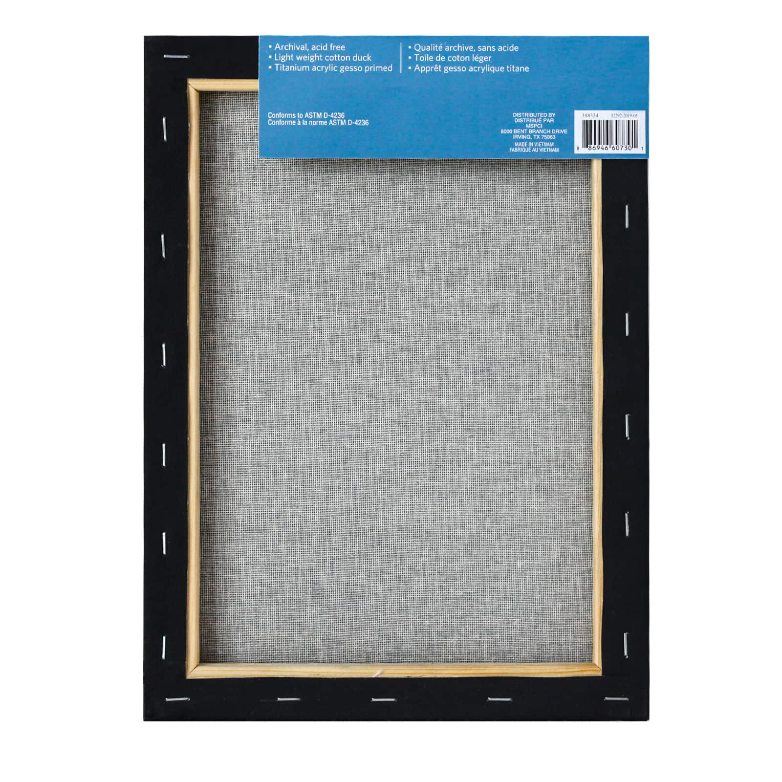 Darice 9 by 12 inch 5 Piece Canvas Panels Value Pack,