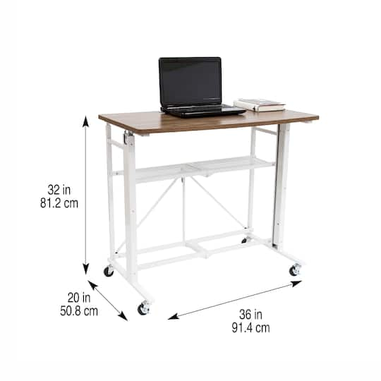 Sit Stand Adjustable Fold Away Desk Workstation By Artist S Loft Michaels