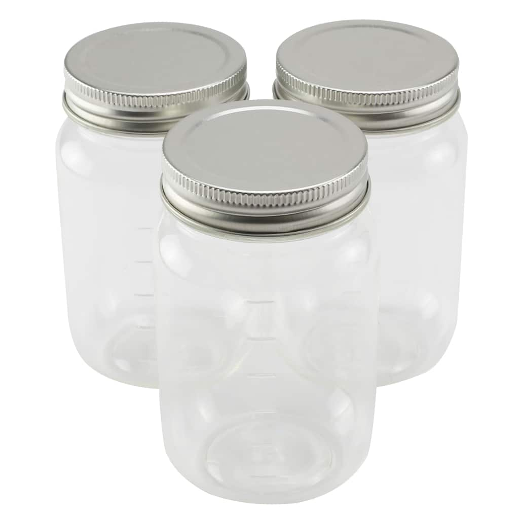 9 Packs 3 Ct 27 Total 16oz Plastic Mason Jars By Craft Smart Michaels