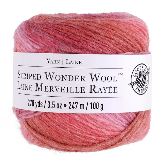 Find Striped Wonder Wool™ Yarn by Loops & Threads® at Michaels