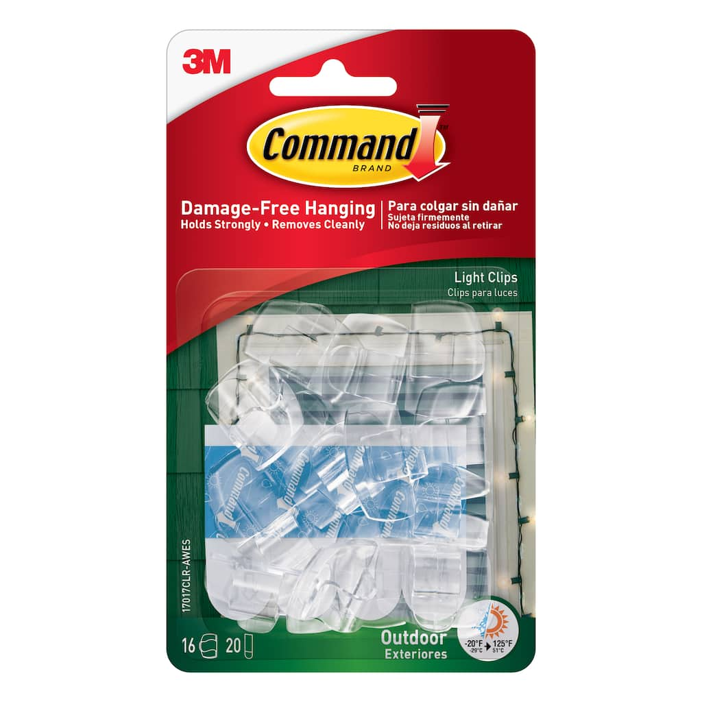 Shop For The 3m Command Outdoor Light Clips Clear At