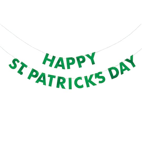 b1d0e463 Green St Patricks Day Party Banner   St Patricks Day Party Decorations