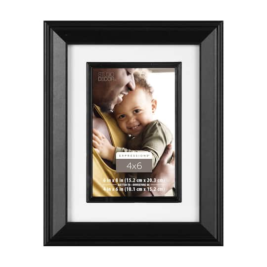 Black 4″ x 6″ Frame with Fillet, Expressions™ by Studio Décor®