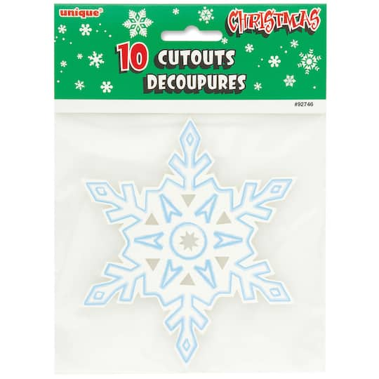Floor Decor Military Discount: Snowflake Winter Paper Cutout Decorations
