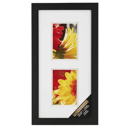 Black 2-Opening Gallery Frame with Double Mat by Studio Décor®
