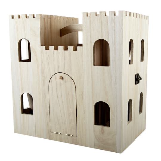 Wood Castle Dollhouse By Artminds